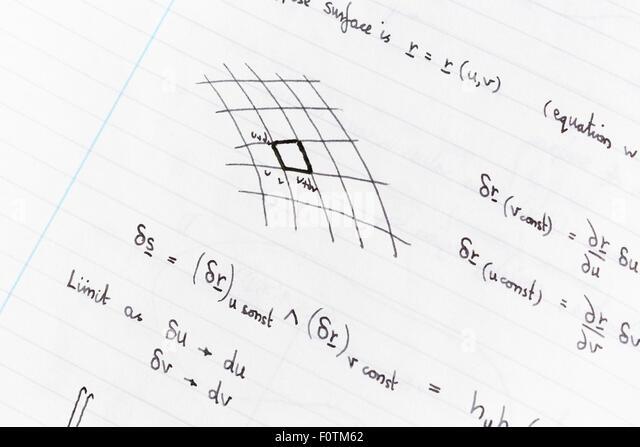 Handwritten Math Stock Photos & Handwritten Math Stock