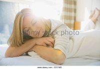 Blonde Woman Hugging Pillow Stock Photos & Blonde Woman ...