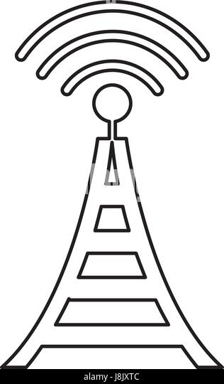 Illustration Radio Transmission Stock Photos