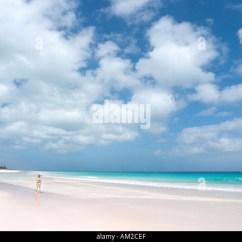 Key West Hammock Chairs Dining At Walmart The Bahamas Beach Stock Photos & Images - Alamy