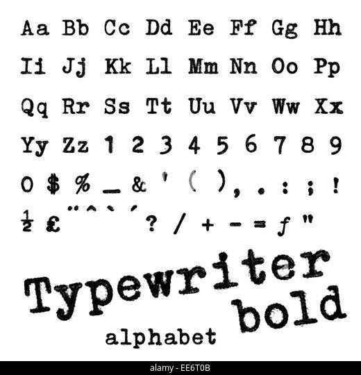 Type Writer Font Stock Photos & Type Writer Font Stock