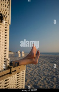 Covered Beach Chair Stock Photos & Covered Beach Chair