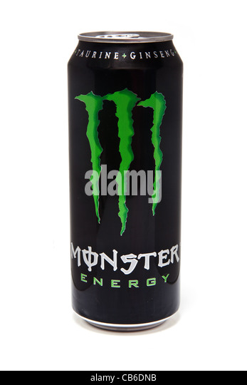 Monster Drink Logo Red Bright