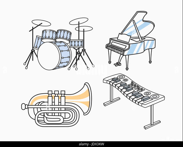 Piano Keyboard Cut Out Stock Photos & Piano Keyboard Cut