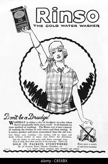Washing Powder Advertising Stock Photos & Washing Powder
