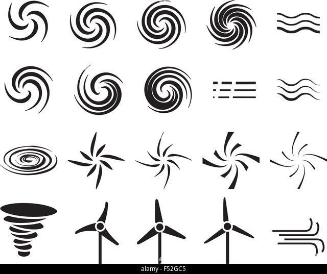 Wind Power Vectors Stock Photos & Wind Power Vectors Stock