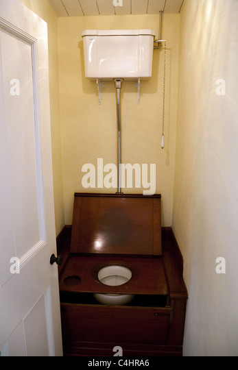 antique commode chair backjack anywhere old fashioned toilet stock photos & images - alamy