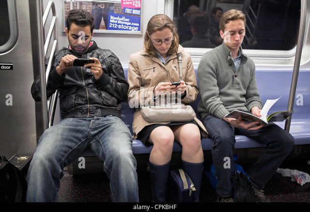 Image result for 3 people sitting on nyc subway