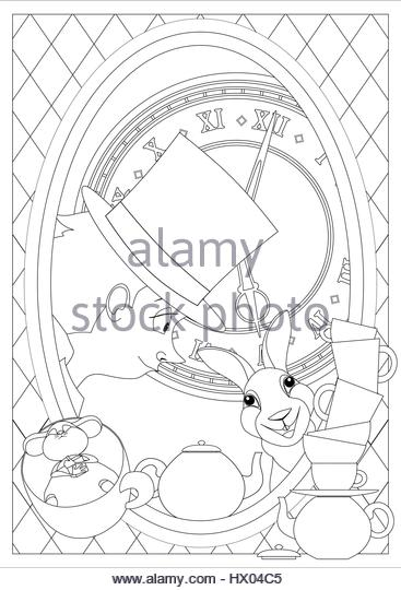 Alice In Wonderland Mad Hatter Tea Party Stock Photos