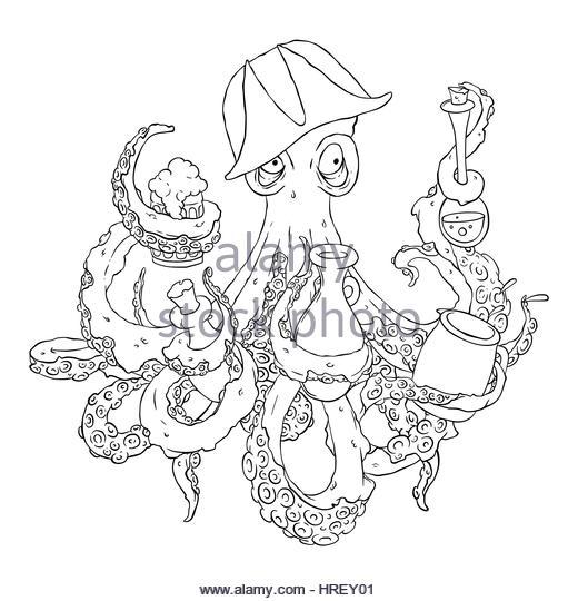 Cartoon Squid Stock Illustration Illustration Of Funny