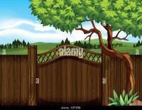Backyard Stock Vector Images - Alamy