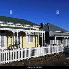 Wooden Glider Chair Australia Cover Rental Hot Springs Victorian Style Cottage Stock Photos & Images - Alamy