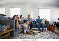 Family Watching Tv Stock Photos & Family Watching Tv Stock ...
