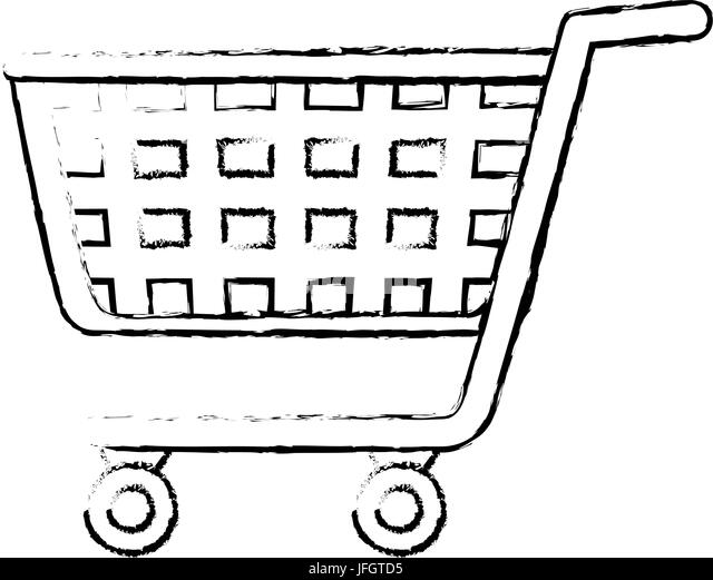 Sketch Shopping Cart Stock Photos & Sketch Shopping Cart