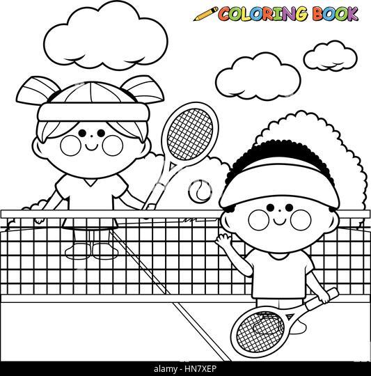 Kids Tennis Tournament Stock Photos & Kids Tennis