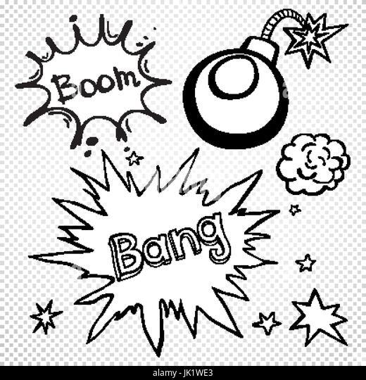 Vector Comic Book Explosion Bubbles Stock Photo