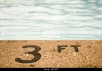 Swimming Pool Depth Sign Stock Photos & Swimming Pool ...