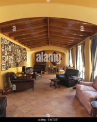 Terracotta Floor Tiles Wooden Furniture Stock Photos ...