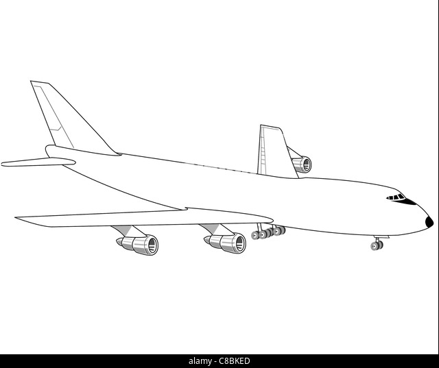 View Aircraft Line Art Drawing Stock Photos & View