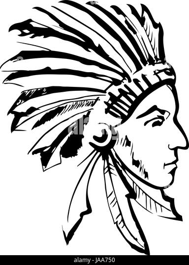 Native American Trade Black and White Stock Photos