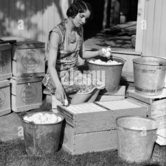 Repair Lawn Chairs Small Wood Chair 1930s House Stock Photos & Images - Alamy