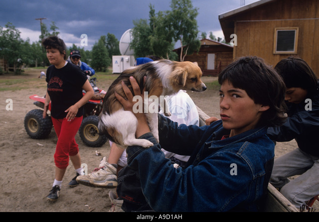 Alaska Native Boy Summer Stock Photos & Alaska Native Boy