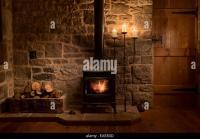 Wood Burning Stove House Stock Photos & Wood Burning Stove ...