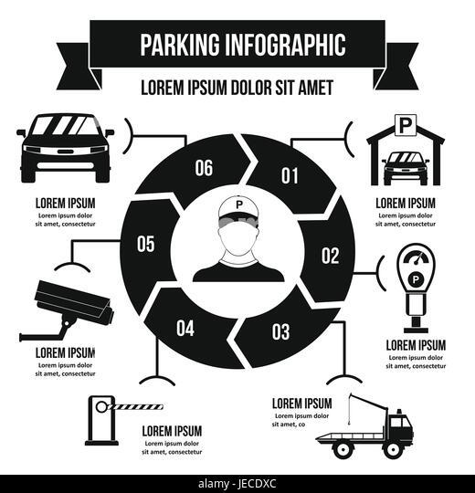 Parking Traffic Sign Black Simple Stock Photos & Parking