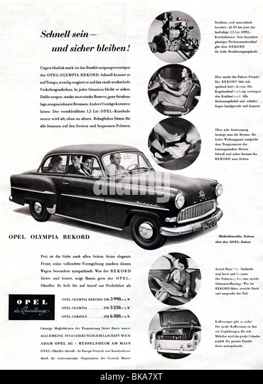 1950s Car Advertisement Stock Photos & 1950s Car