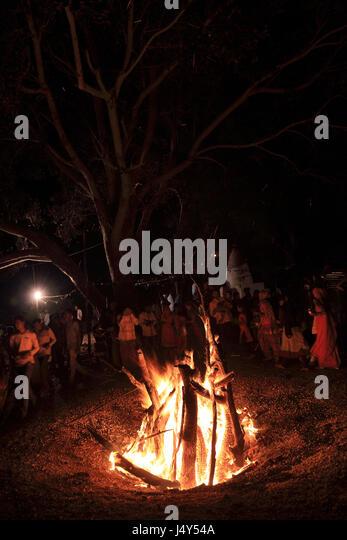 Holika Holi Bonfires During Burnt