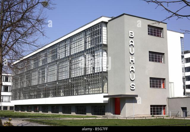 Bauhaus Building Dessau Germany Stock Image