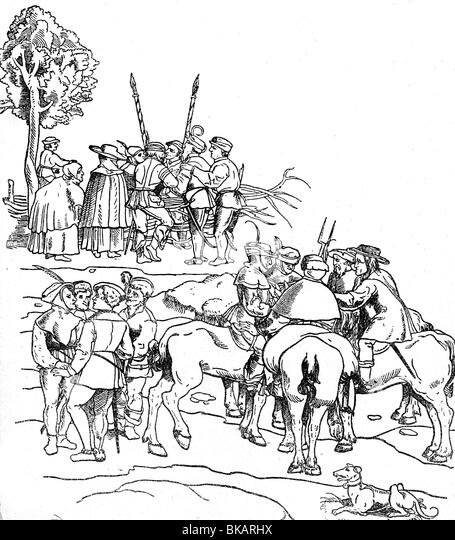 Germany Peasants Historical Stockfotos & Germany Peasants