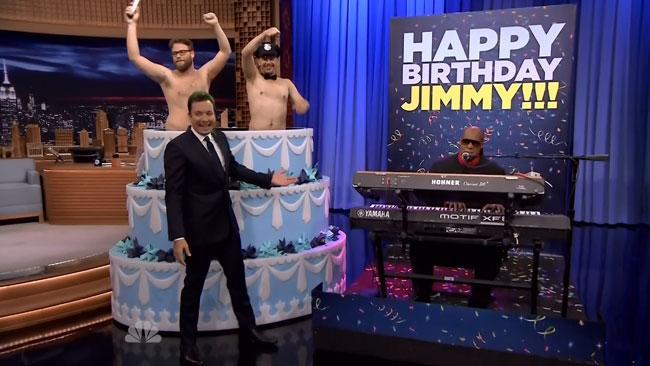 Jimmy Fallon birthday Seth Rogen James Franco Stevie