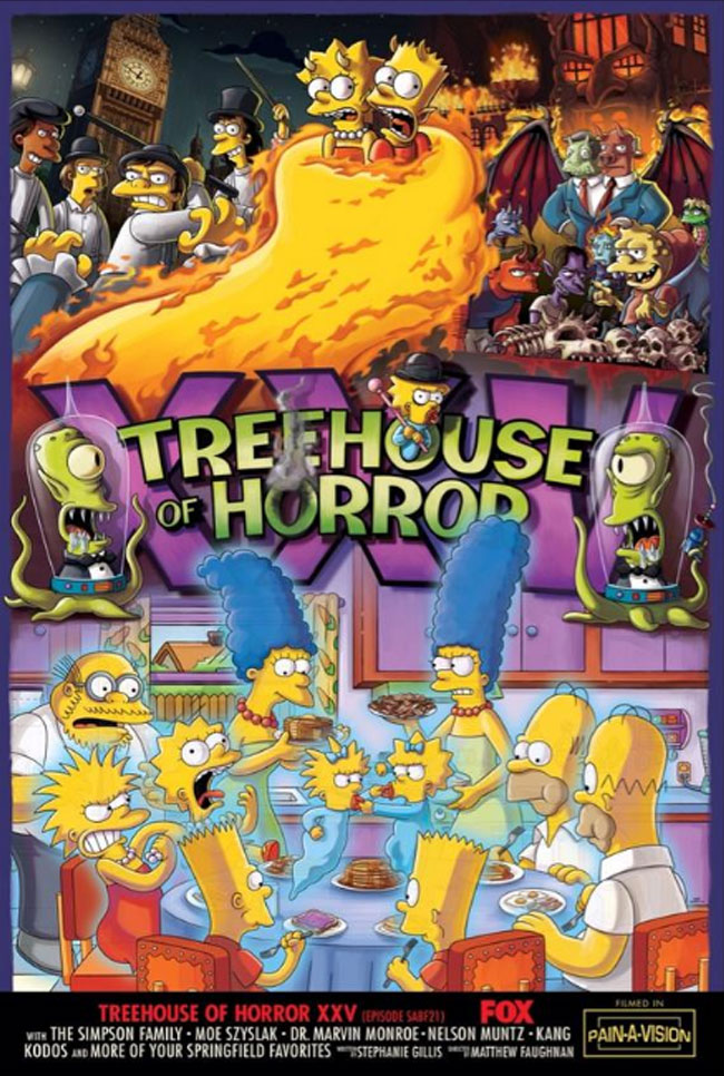 Simpsons Treehouse of Horror XXV trailer and poster  L7 World