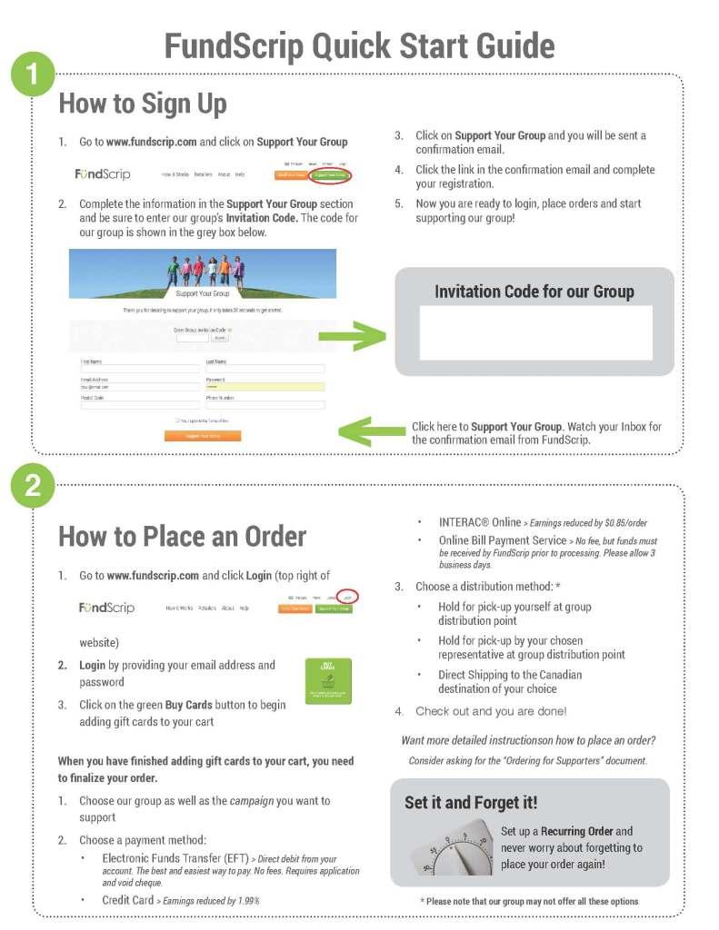 Fundscrip - Instructions