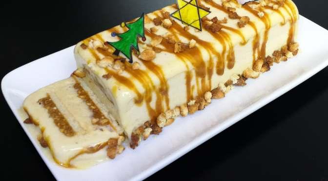 Bûche glacée vanille caramel diététique