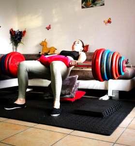 Magali Le Roux hip thrust 200kg