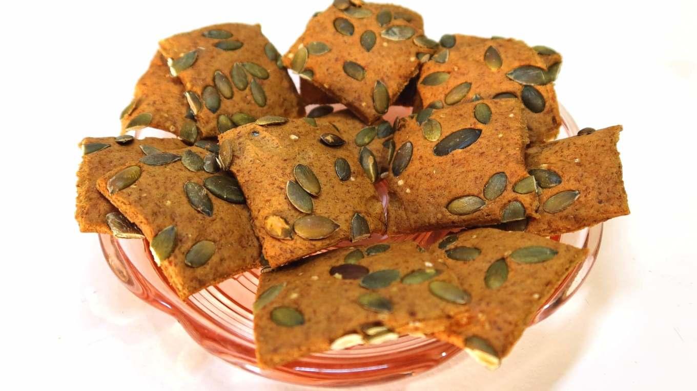 crackers vegan hyperprotéinés à la courge