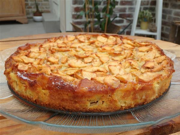 Clafoutis pommes dans son plat