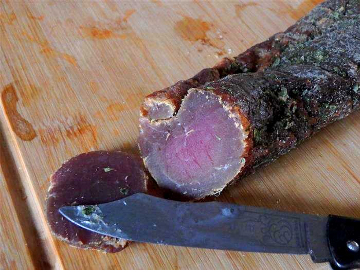Viande de porc séchée