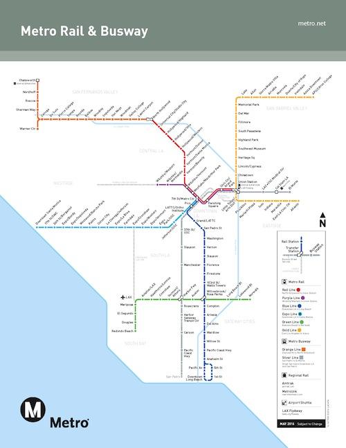 Los Angeles Metrolink Map : angeles, metrolink, Angeles, Metro