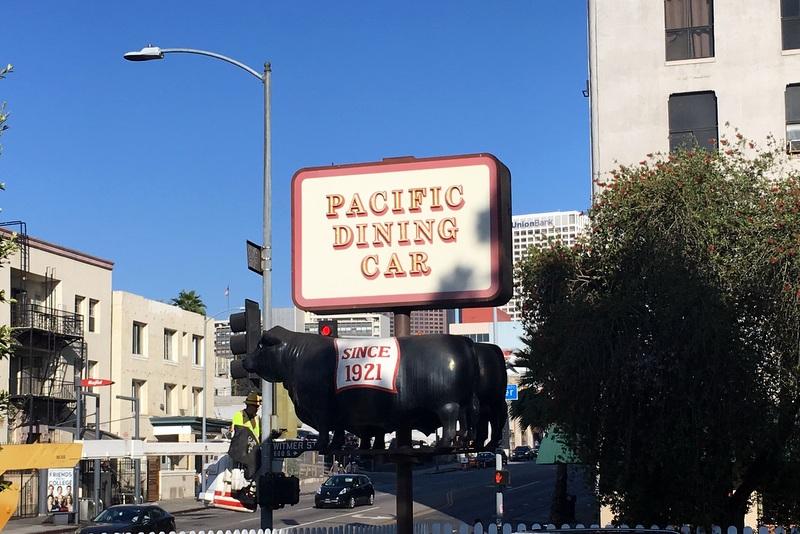 LA Explorer & Enjoying a Meal at Pacific Dining Car - LA Explorer