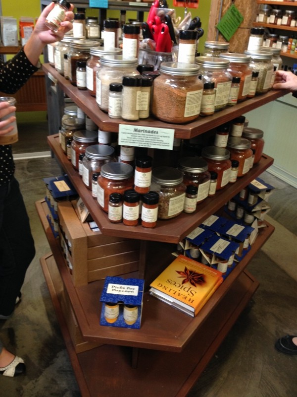 Shopping at Savory Spice Shop