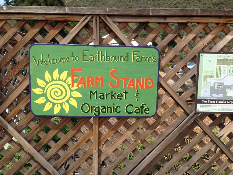 Stopping at Earthbound Farm Farm Stand