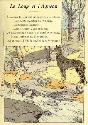 Le Loup Et L'agneau La Fontaine : l'agneau, fontaine, Fables, Fontaine, L'agneau