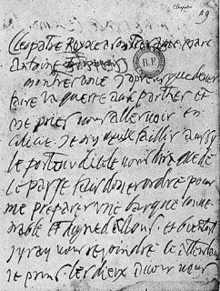 paléographie - texte cloporte