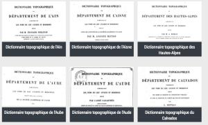 La minute Gallica : les dictionnaires topographiques