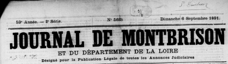 jean antoine firmin merle, journal de montbrison, haute-loire, généalogie