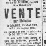 Saisdubreil, immoblier La Bouëxière, vente par licitation