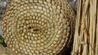 Dessous de corbeille en herbes des marais cousue à la ronce